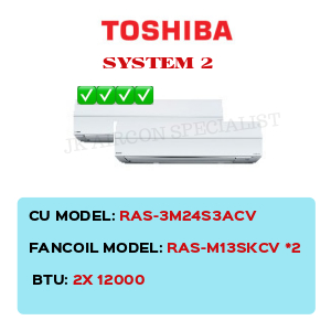 RAS-3M24S3ACV / RAS-M13SKCV X2