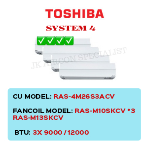 RAS-4M26S3ACV / RAS-M10SKCV X3/ RAS-M13SKCV