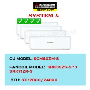 SCM80ZM-S / SRK35ZS-S X3 / SRK71ZR-S