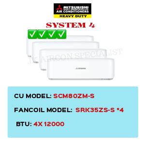 SCM80ZM-S / SRK35ZS-S X4