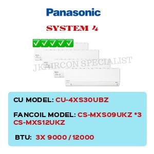 CU-4XS30UBZ / CS-MXS09UKZ X3 / CS-MXS12UKZ