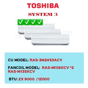 RAS-3M24S3ACV / RAS-M10SKCV X2 / RAS-M13SKCV