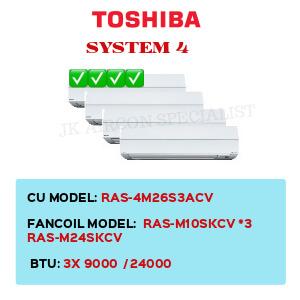 RAS-4M26S3ACV / RAS-M10SKCV X3 / RAS-M24SKCV