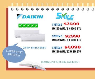 DAIKIN SMILE SERIES 5 TICK